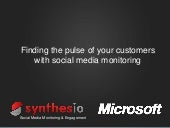 Synthesio Microsoft presentation at...