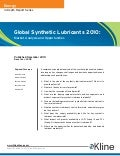 Global Synthetic Lubricants 2010: Market Analysis and Opportunities