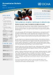 Syria Humanitarian Bulletin - Issue...