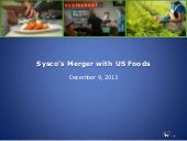 Sysco's Merger with US Foods