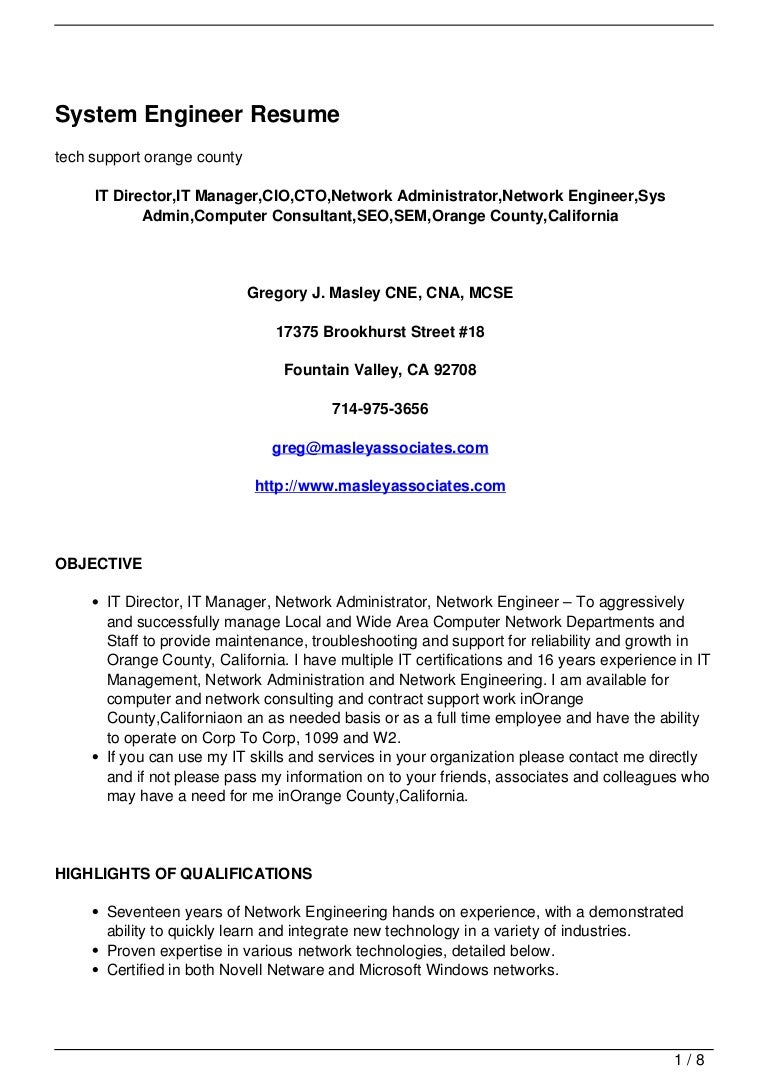 Cover Letter For System Engineer Images - Cover Letter Ideas