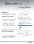 Microsoft System Center 2012 licensing datasheet