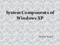 System components of windows xp