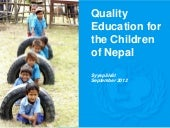Quality Education for the Children ...