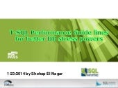 T sql performance guidelines for be...