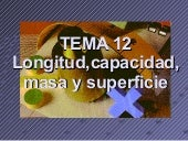 T12 longitud,capacidad,masa,superficie