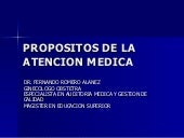 T.1.Propositos De La Atencion Medica