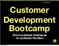 Lean Startup - Customer Development Bootcamp