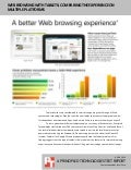 Web browsing with tablets: Comparing the experience on multiple platforms