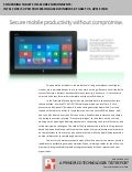 Comparing tablets in secure environments: Intel Core i5 vPro processor-based Microsoft Windows 8 tablet vs. Apple iPad
