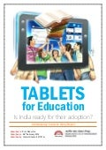Tablets in Education: Is India ready for their adoption?