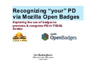 "Recognizing ""your"" PD via Mozilla O..."