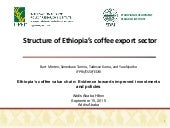 Structure of Ethiopia's coffee export sector