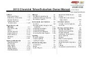 2012 Chevrolet Tahoe Owner's Manual