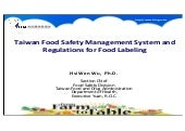 Taiwan Food Safety & Regulations for Food Labeling