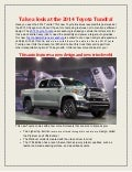 Take a look at the 2014 Toyota Tundra