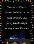Take the 2016 Toyota Sequoia out to see Christmas lights!
