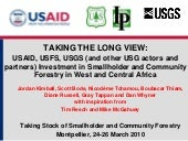 Taking the long view USAID, USFS, U...