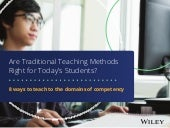 Are Traditional Teaching Methods Right for Today's Students