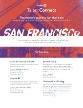 The Insider's Guide to San Francisco | Talent Connect 2014