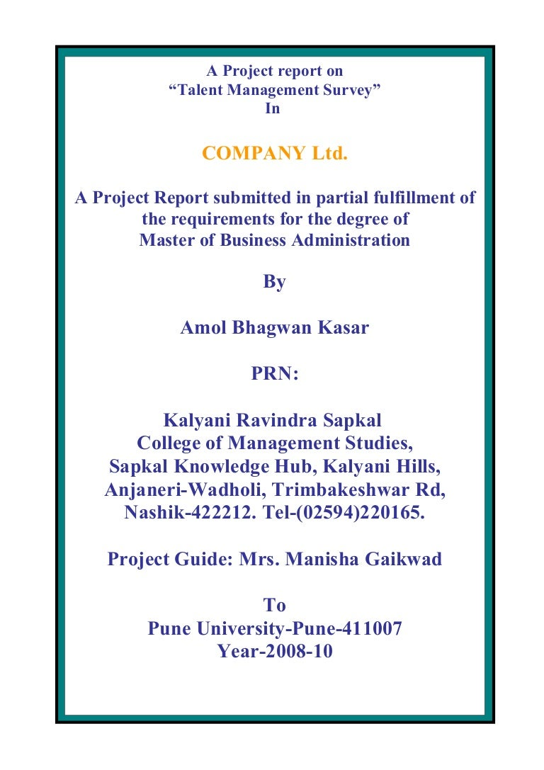 Dissertation on talent management