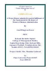 Talent mnagement- MBA(HR) project