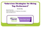 Talent Talk Webinar Interview Strat...