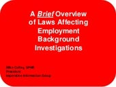 A Brief Overview of Laws Affecting ...