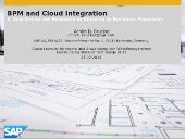 BPM and Cloud Integration: A New Driver for Research in Security in Business Processes