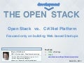 Open Stack vs .NET Stack - For Startups