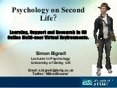 Psychology on Second Life?: Learnin...