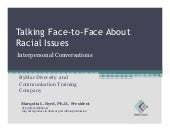 Talking face to-face about racial i...