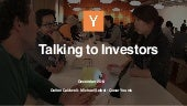 How to Talk to Investors