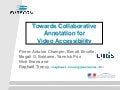 Towards Collaborative Annotation for Video Accessibility