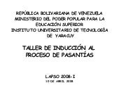 Taller Induccion Abril08 2008i Admi...