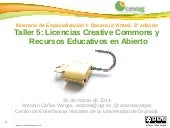 Taller 5: Licencias Creative Common...