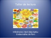 Taller de lectura.Text descriptiu. ...