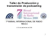 Taller Podcast Bienal