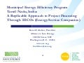 Municipal Energy Efficiency Program in Tamil Nadu, India