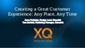 Creating a Great Customer Experienc...