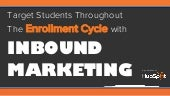 Target Students Throughout The Enrollment Cycle with Inbound Marketing