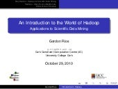 An Introduction to the World of Hadoop