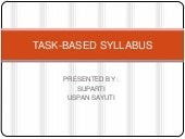 Task based syllabus