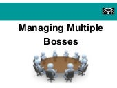 Managing Multiple Bosses - Main Asp...