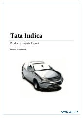 Tata Indica-Product Analysis