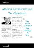 Aligning Commercial and Tax Objectives - John Gulliver, Head of Tax, Mason Hayes & Curran