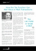 How the Tax Function Can Add Value in M&A Transactions - Jamie Gebbia, FMC Corporation