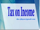 Tax on income