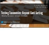 Testing Taxonomies: Beyond Card Sorting