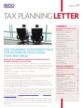 Tax Planning Tips Businesses   2009